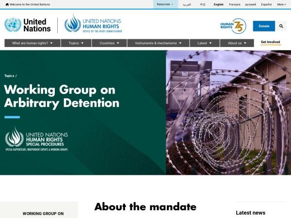 Screenshot of www.ohchr.org