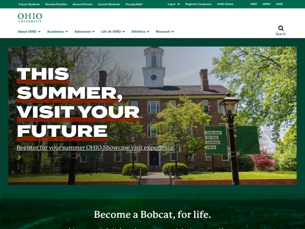 Screenshot of www.ohio.edu