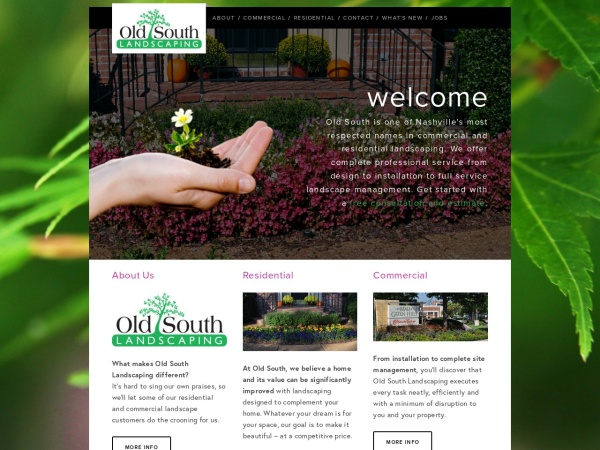 Screenshot of www.oldsouthlandscaping.com