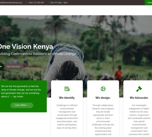 Screenshot of www.onevisionkenya.org