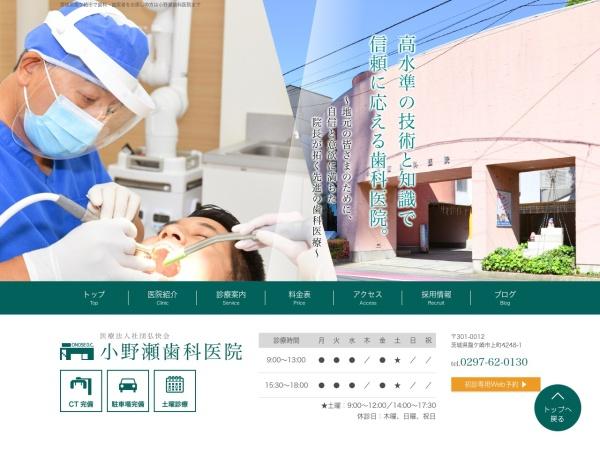 Screenshot of www.onose-dc.com