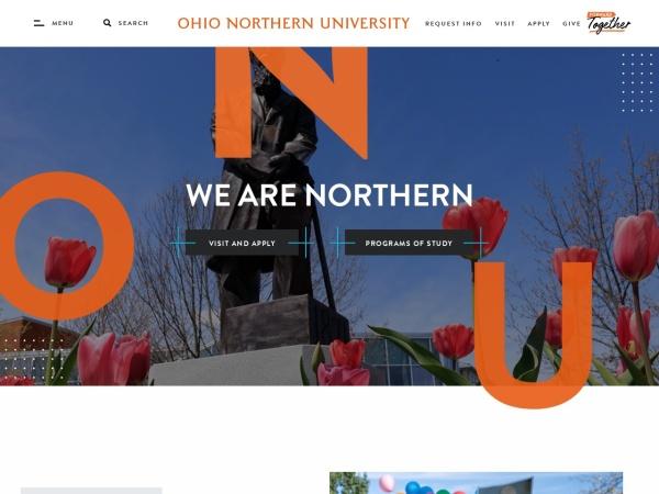 Screenshot of www.onu.edu