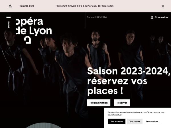 Screenshot of www.opera-lyon.com