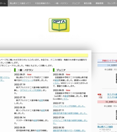 Screenshot of www.optanet.jp