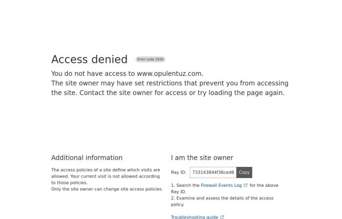 Screenshot of www.opulentuz.com