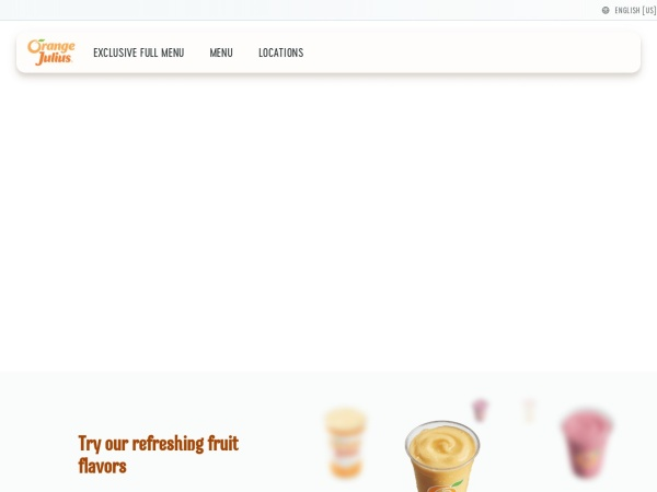 Screenshot of www.orangejulius.com