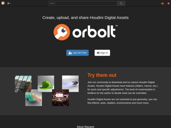 Screenshot of www.orbolt.com