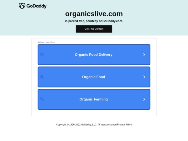 Screenshot of www.organicslive.com