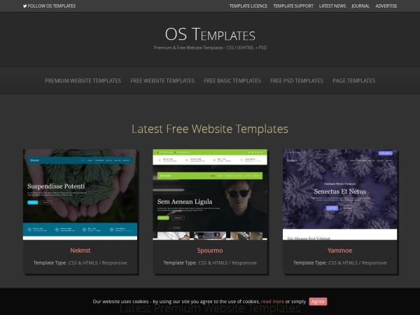 OS Templates | Download 541 Website Templates - Premium and Free Website Templates, Responsive, HTML5, PSD Templates and Much More