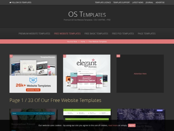 Free Website Templates Page 1 of 29 (Total of 255 Templates) | OS Templates