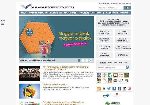 Screenshot of www.oszk.hu