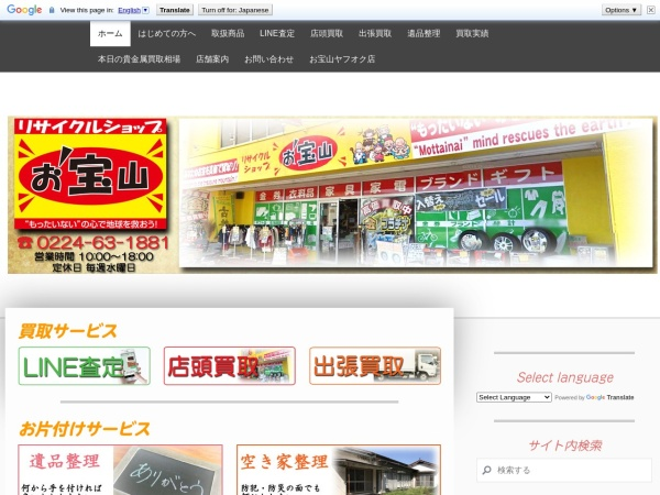 Screenshot of www.otakarayama.com