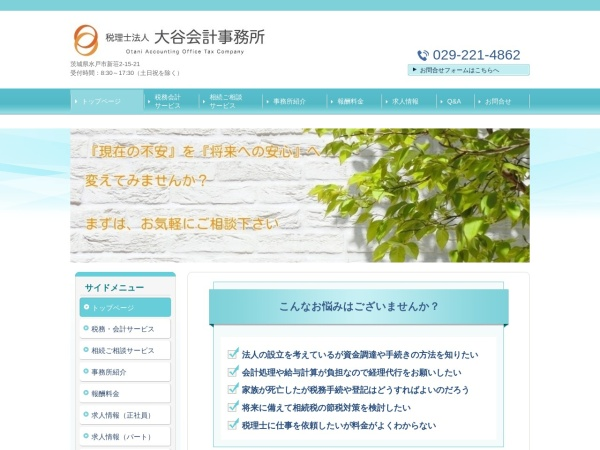 Screenshot of www.otani-tax.com