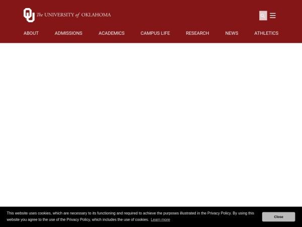 Screenshot of www.ou.edu
