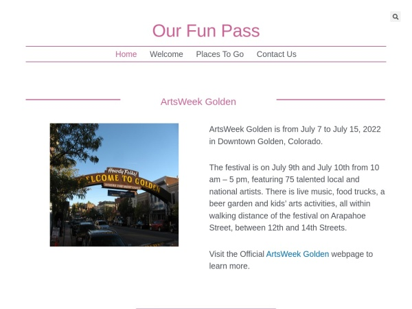 Screenshot of www.ourfunpass.com