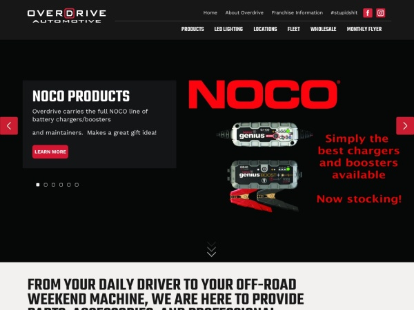Screenshot of www.overdriveauto.com