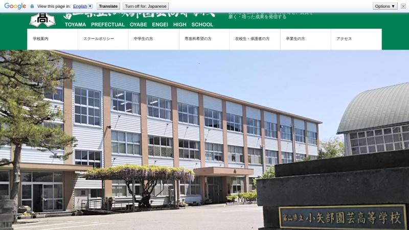 Screenshot of www.oyabeengei-h.tym.ed.jp
