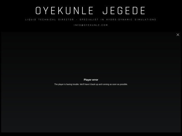 Screenshot of www.oyekunle.com