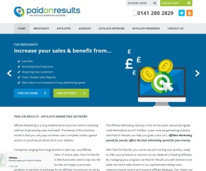 Screenshot of www.paidonresults.net