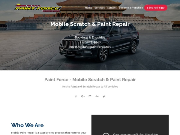 Screenshot of www.paintforce.net