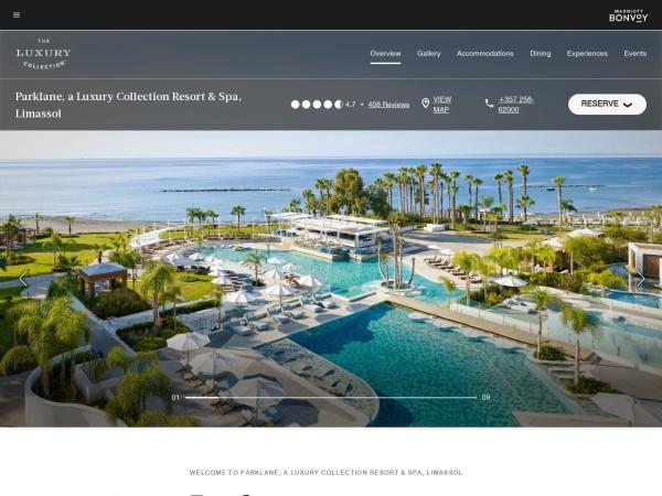 Screenshot of www.parklanecyprus.com