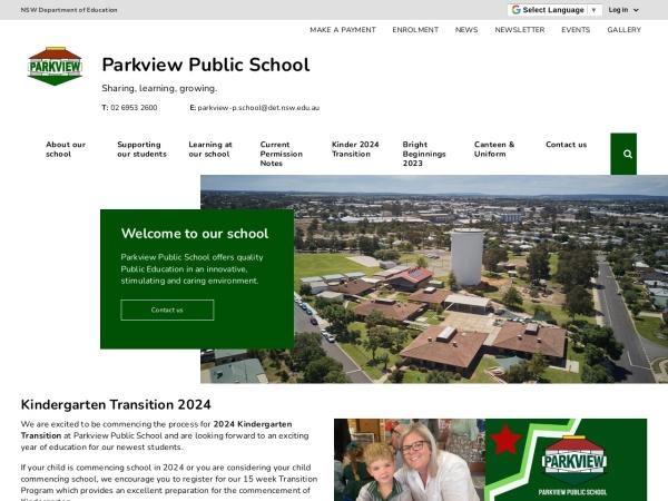 Screenshot of www.parkview-p.schools.nsw.edu.au