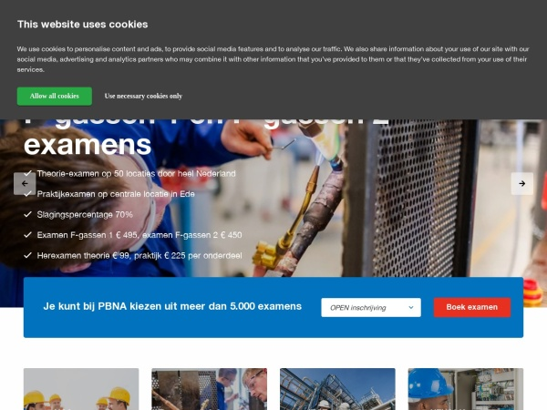 Screenshot of www.pbna.com