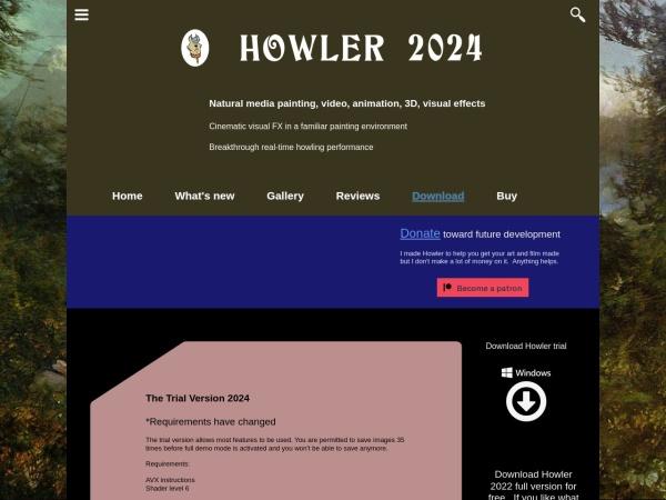 Screenshot of www.pdhowler.com
