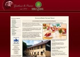 Screenshot of www.pension-zur-linde.de
