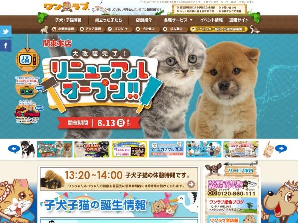 Screenshot of www.pet-onelove.com