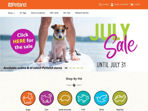 Screenshot of www.petland.ca