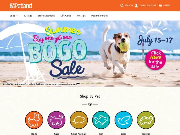 Screenshot of www.petland.ca