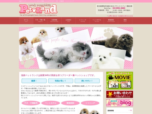Screenshot of www.petland.cc