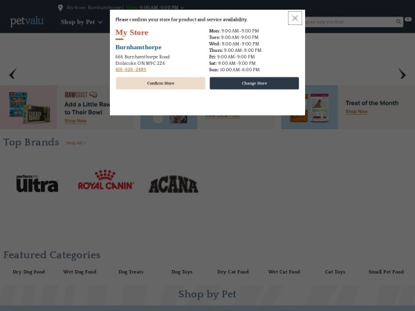 Screenshot of www.petvalu.com