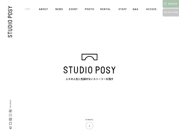 Screenshot of www.photo-posy.co.jp