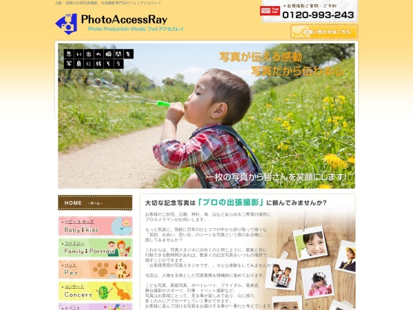 Screenshot of www.photoaccess-ray.jp
