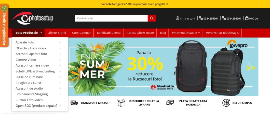 Screenshot of www.photosetup.ro