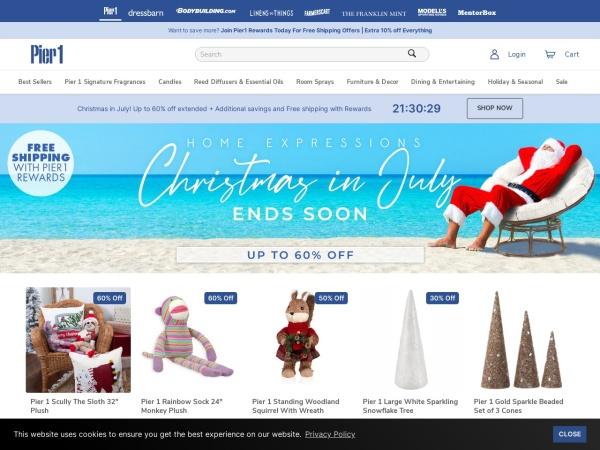 Screenshot of www.pier1.com