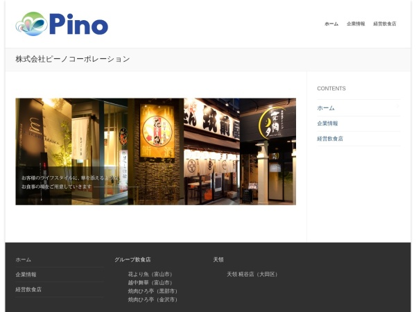 Screenshot of www.pino-co.com