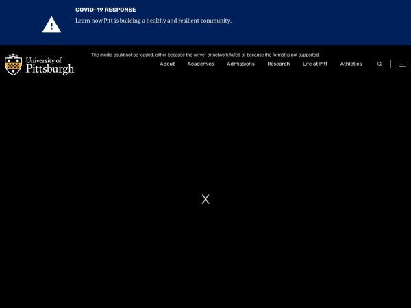 Screenshot of www.pitt.edu