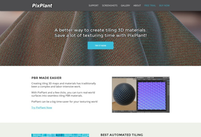 Screenshot of www.pixplant.com