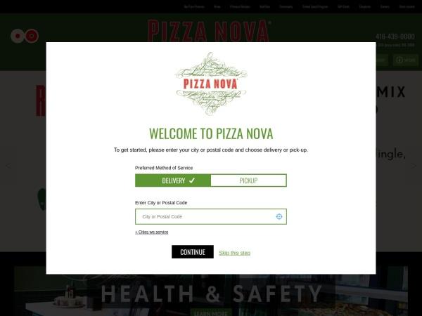 Screenshot of www.pizzanova.com