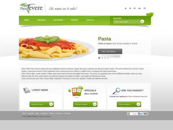 Screenshot of www.placetevere.com