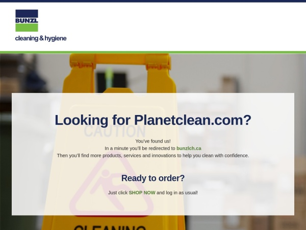 Screenshot of www.planetclean.com