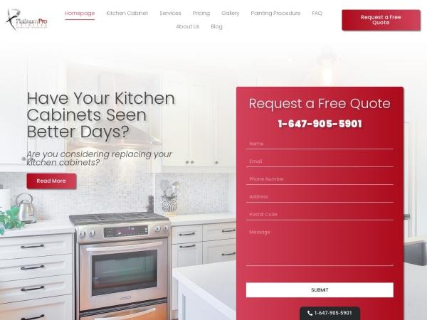 Screenshot of www.platinumpropainters.com