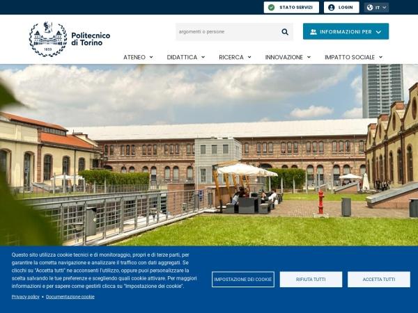 Screenshot of www.polito.it