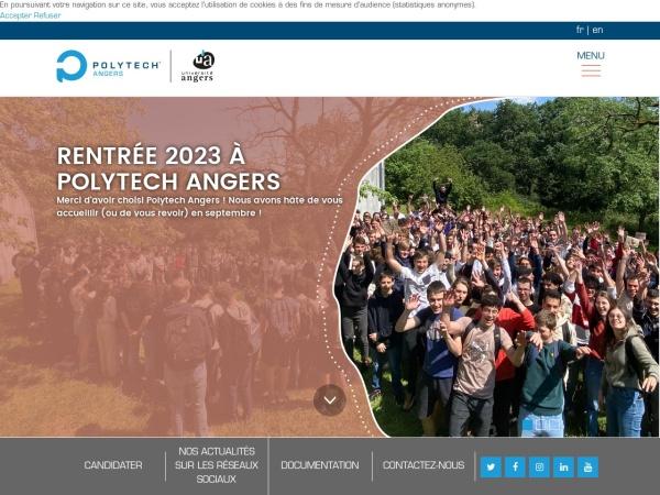 Screenshot of www.polytech-angers.fr