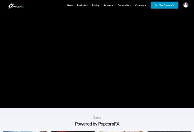 Screenshot of www.popcornfx.com