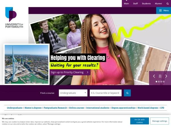 Screenshot of www.port.ac.uk