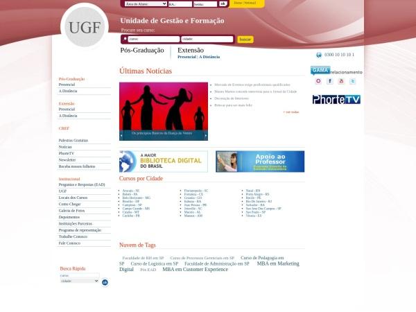 Screenshot of www.posugf.com.br